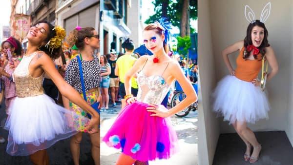 fantasias de carnaval baratas com saia de tule