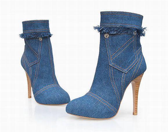 Sapatos jeans moda e tendência 2017