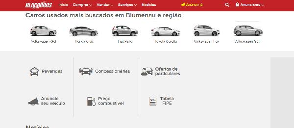escolha seu carro no site blucarros