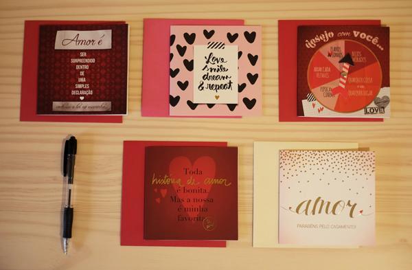 Modelos de Cartões para o Dia dos Namorados