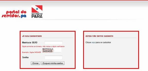Portal do servidor PA 1