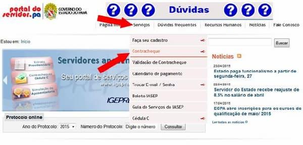 consulta Portal do servidor PA