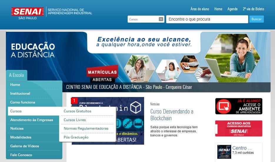 site oficial senai