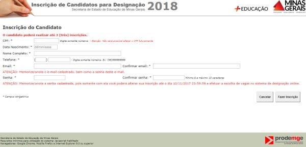 Designação SEE MG 2018