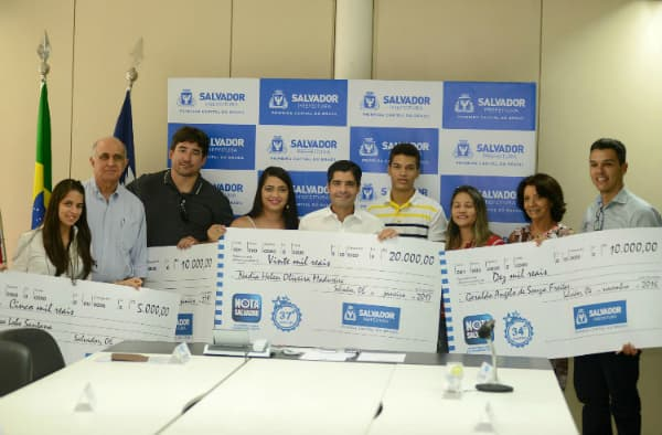Nota Salvador prêmios em dinheiro