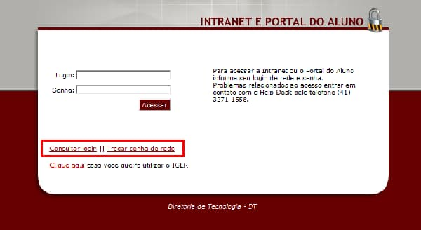 intranet portal do aluno