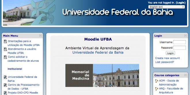 Moodle UFBA – Cursos, Como acessar