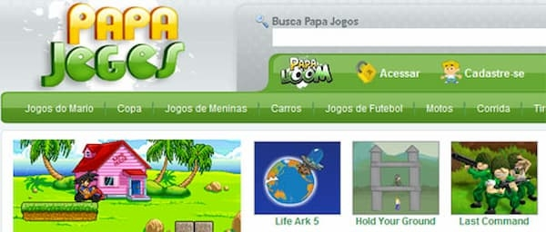 Papa Jogos jogos variados