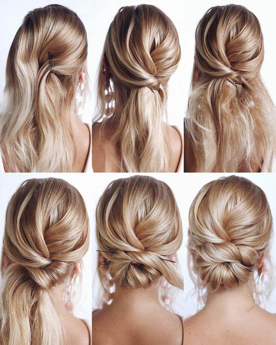 cabelo com coque
