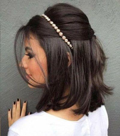 penteado para festa de formatura para cabelo curto