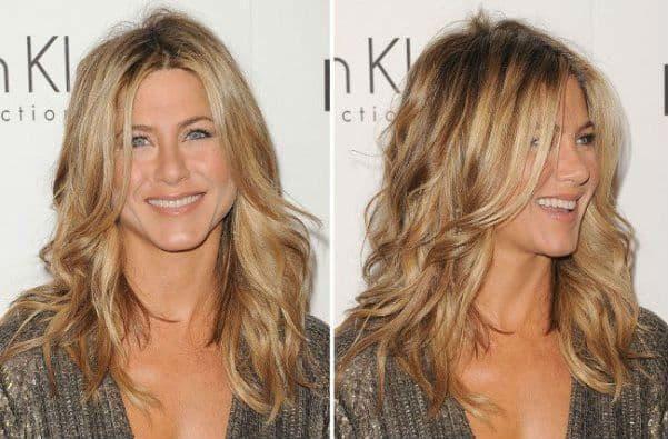 corte de cabelo feminino medio loiro ondulado