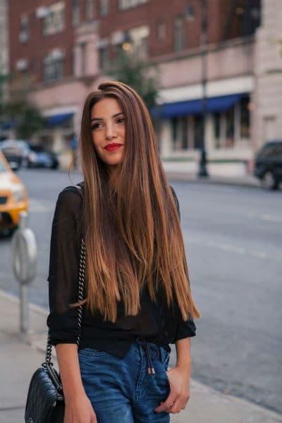 cortes de cabelo feminino longo com luzes nas pontas