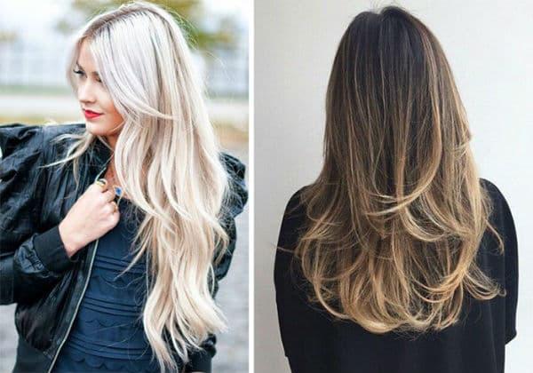 cortes de cabelo feminino longo cores