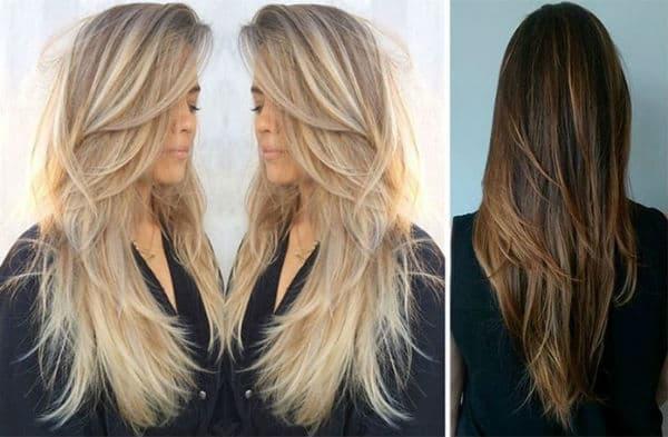 cortes de cabelo feminino longo platinado