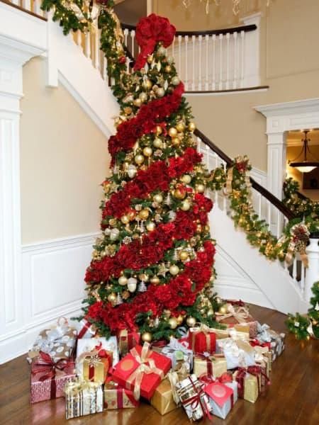 Decoração de Natal 2018 Dicas, Fotos e Ideias com árvore grande