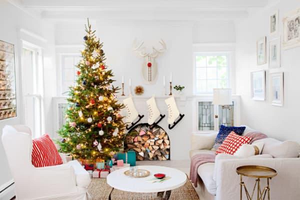 Decoração de Natal 2018 Dicas, Fotos e Ideias com almofadas coloridas