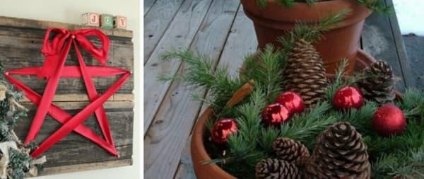 Decoração de Natal 2018 Dicas, Fotos e Ideias com fita e pinhas