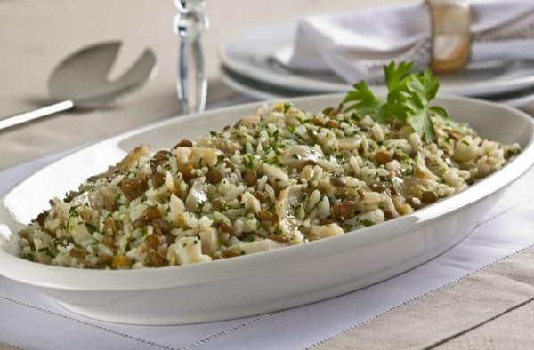 ceia de natal arroz de reveillon com lentilha