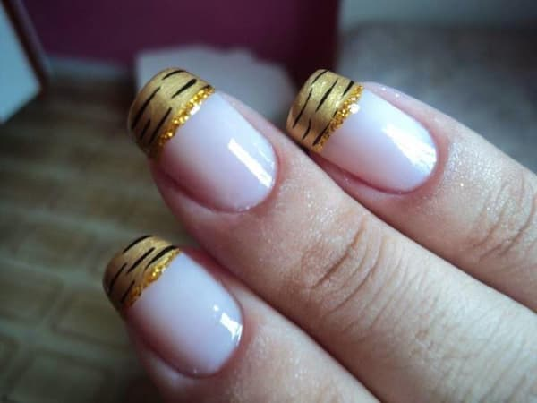 unhas decoradas para o reveillon francesinhas animal print