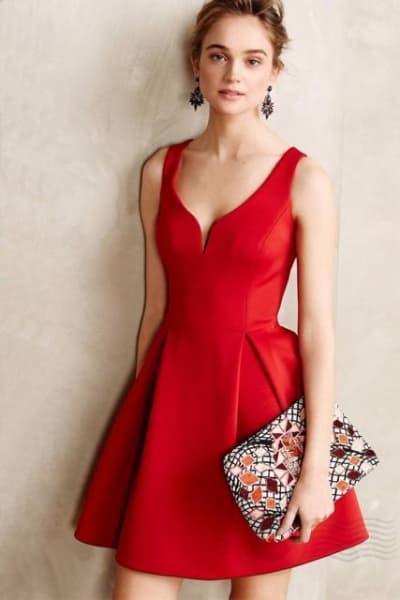 vestido para natal curto com saia godé