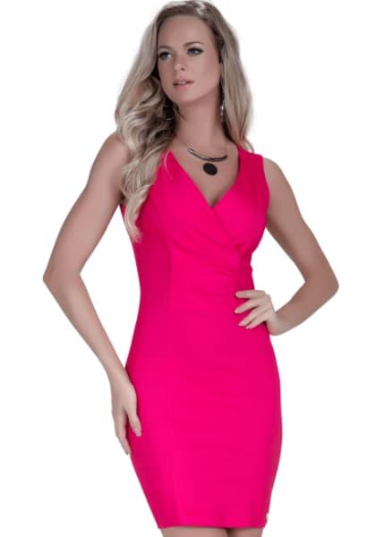 vestido para natal tubinho rosa pink