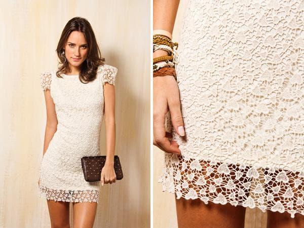vestido para reveillon branco de renda
