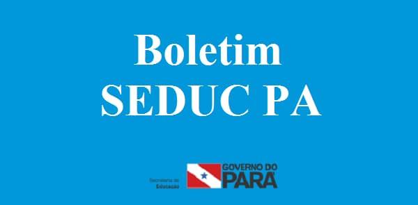Seduc PA - boletim online, lançamento de notas governo do Pará