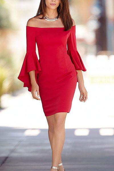 vestido vermelho de natal chique