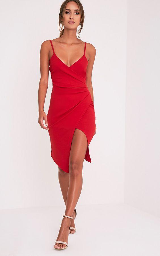 vestido vermelho de natal sexy