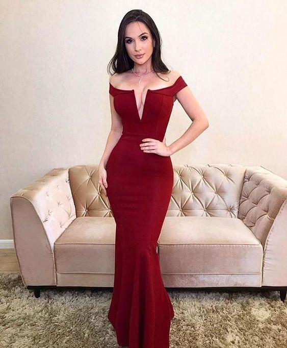 vestido vermelho de natal tubinho longo