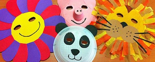 Modelos de máscara de Carnaval com material reciclável
