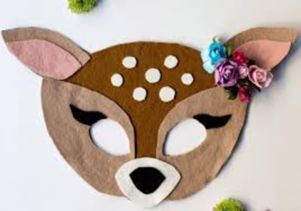 Modelos de máscara de Carnaval de bambi