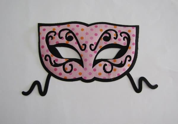 Modelos de máscara de Carnaval de tecido