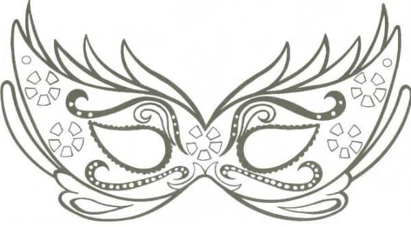 Modelos de máscara de Carnaval preto e branco