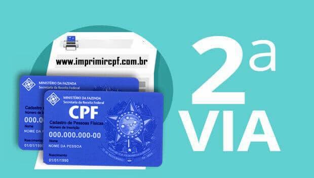 2 Via CPF pela Internet