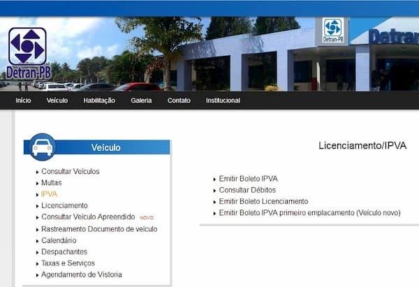 DETRAN PB - Consultas, Multas, IPVA 01