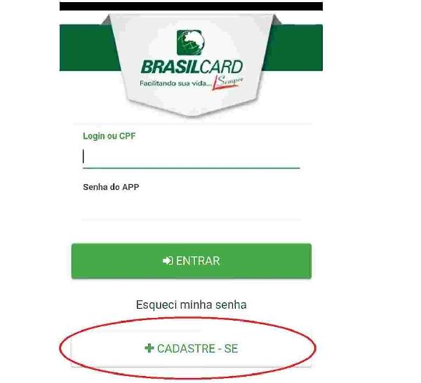 acesso e cadastro brasilcard