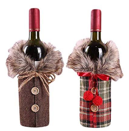decoracao de natal para garrafa de vinho