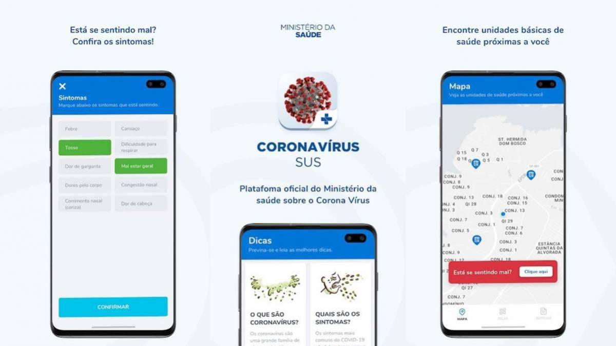 Aplicativo de Prevenção do Coronavírus do Ministério da Saúde