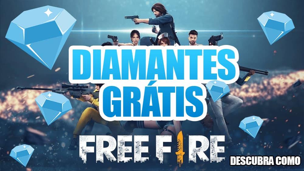 ganhar diamantes no Free Fire
