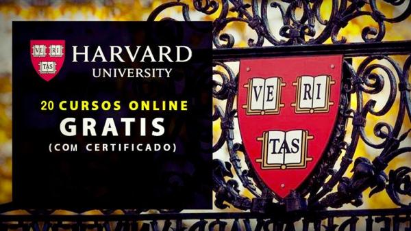 20 Cursos gratuitos online com certificado na Universidade de Harvard.