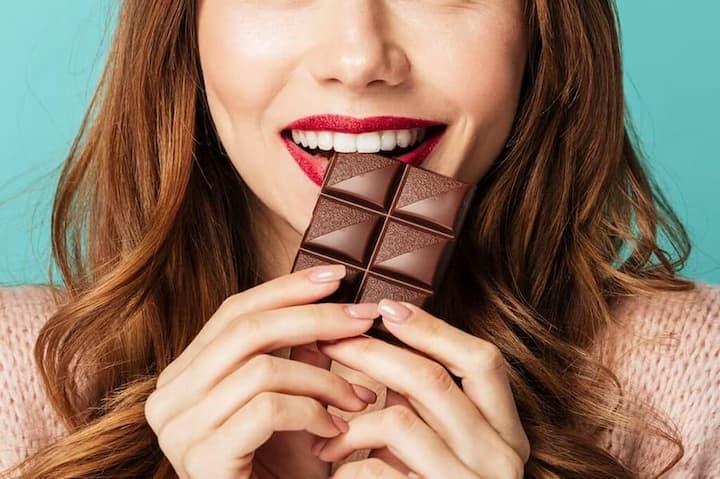prazer em comer chocolate