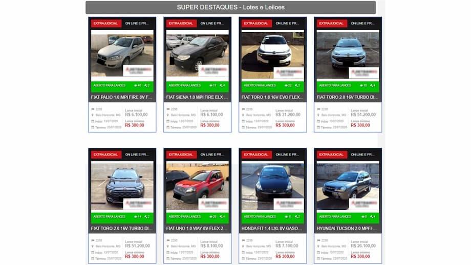 sites para Participar de Leilão de Carros