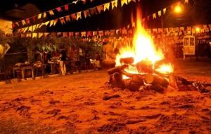Festa Junina Decoração e Comida