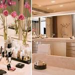 228517 banheiro minimalista com flores na decoração 150x150 Como Decorar Banheiro com Flores