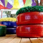 229507 poltronas e floreita de pneus usados 150x150 Decoração Barata e Criativa para Ambientes