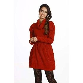 239105 vestido de lã com legging Vestido de Lã com Legging