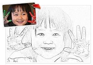 239985 menina Como Transformar Foto em Desenho