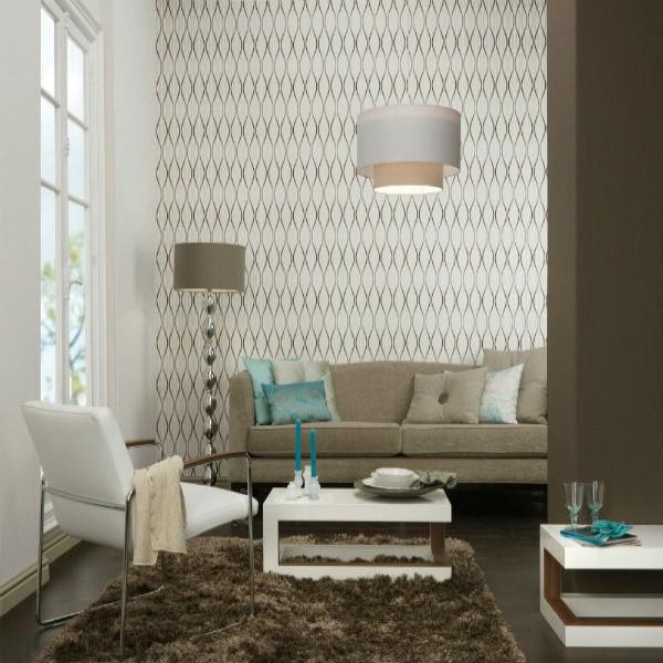 244014 papel de parede formas 600x600 Papel De Parede Para Decorar Salas Dicas