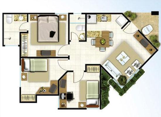 Pin de casa 04 150x150 plantas casas modelos projetos - Modelos de casas ...